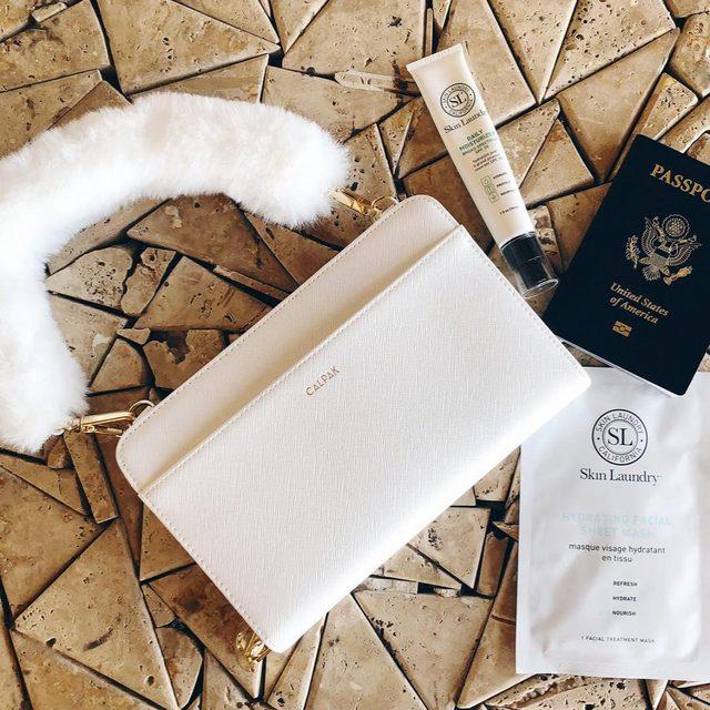 On Tuesdays, we travel. #skinlaundry x #calpak ✈️