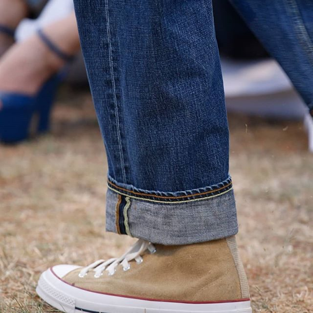 GOLD SUEDE CHUCK TAYLOR ALL STAR CONVERSE FOLD FRONT JEANS MENS SPRING SUMMER 2018  LINK IN BIO AVAILABLE ONLINE AND IN JW ANDERSON WORKSHOPS  #JWANDERSON #JWANDERSONWORKSHOPS #MSS18